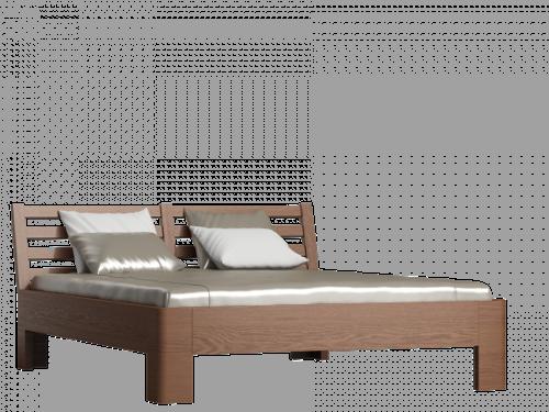 Łóżka drewniane, WOOD DARK, Łóżka Nowoczesne