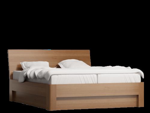 łóżko drewniane Wood Bis z pojemniikiem