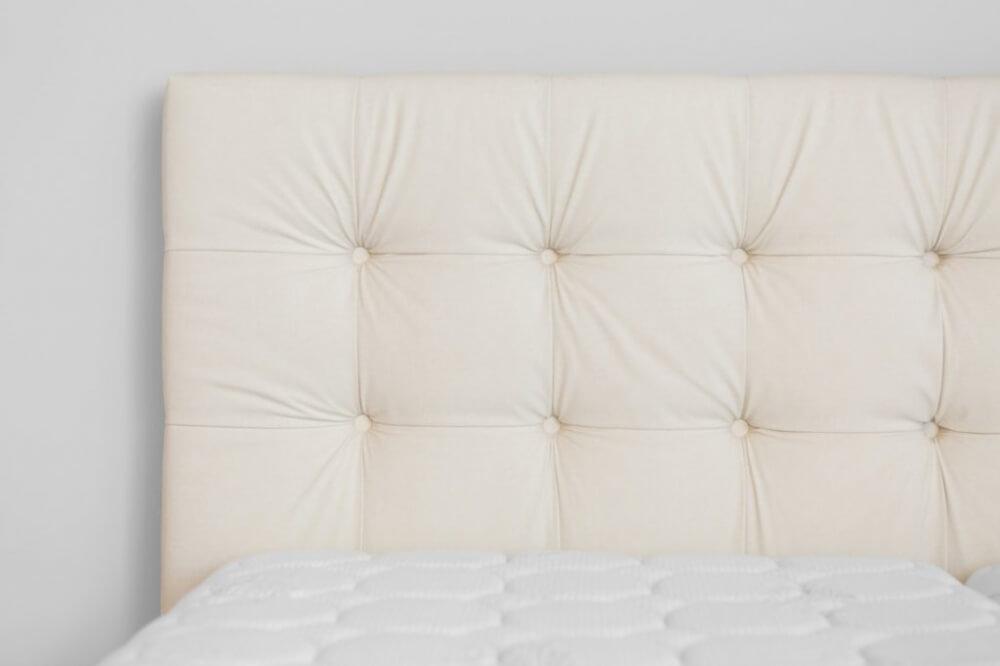 łóżko kontynentalne SAVONA wezgłowie kremowe
