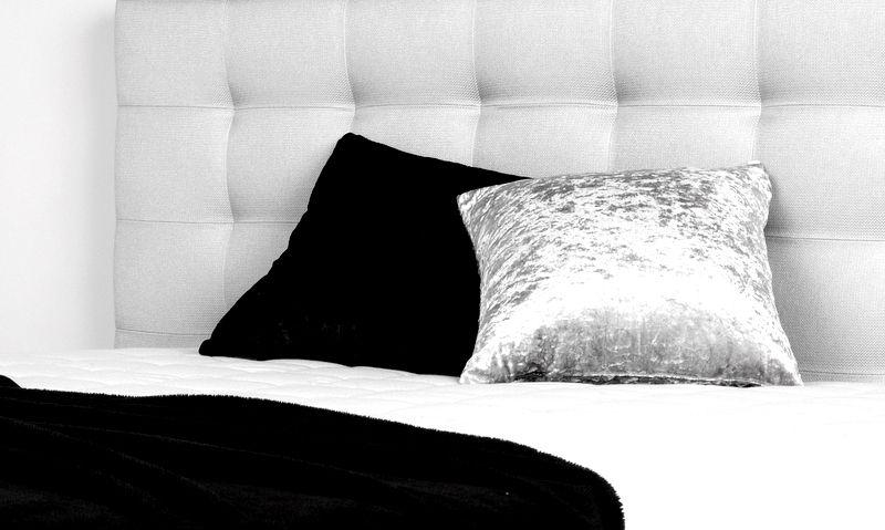łóżko kontynentalne CLARA wezgłowie
